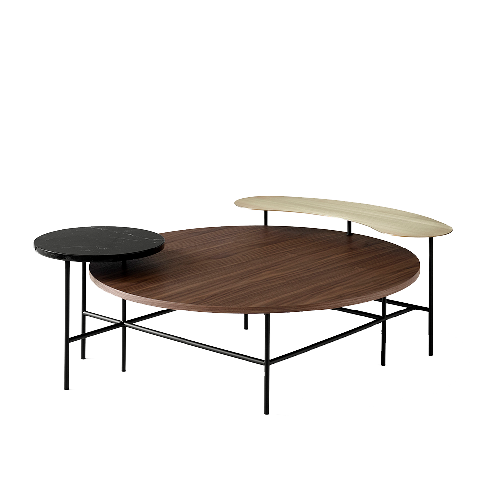 palette jh25 table jaime hayon andtradition carrara marble stainless steel oak