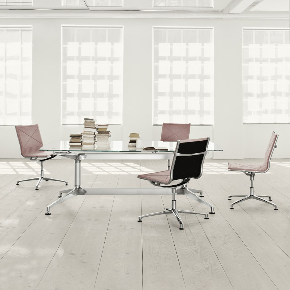 joint 4 star glide swivel base anders hermansen engelbrechts danish design aluminum task chair workspace office furniture denmark leather fabric netweave webbing upholstery shop suite ny