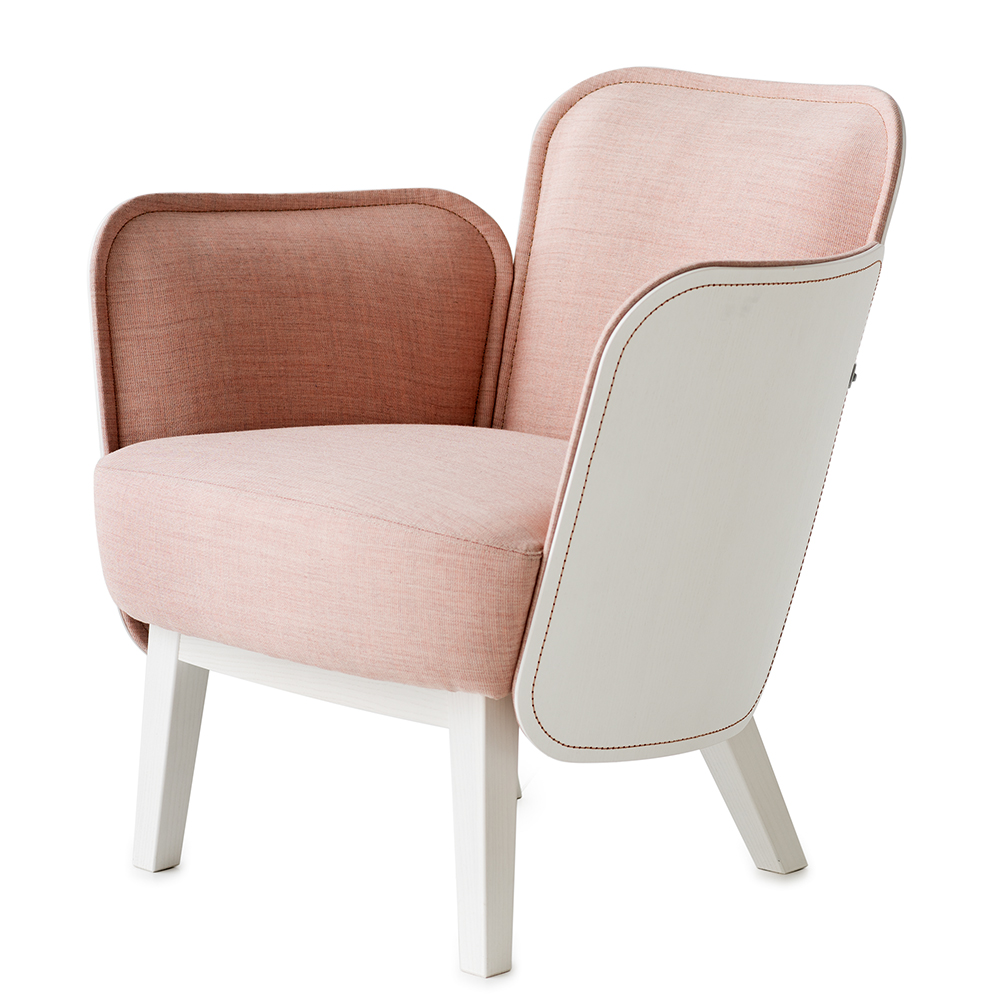 julius easy chair farg blanche garsnas mdoern upholstered lounge chair ecofriendly wood stitching pink