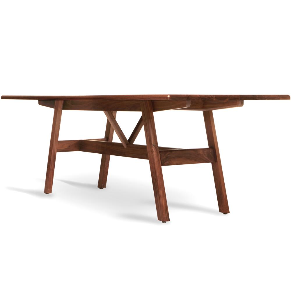 kant table bassamfellows walnut american made handcrafted dining tables designer furniture high end interior desk design matteo mendiola shop suite ny
