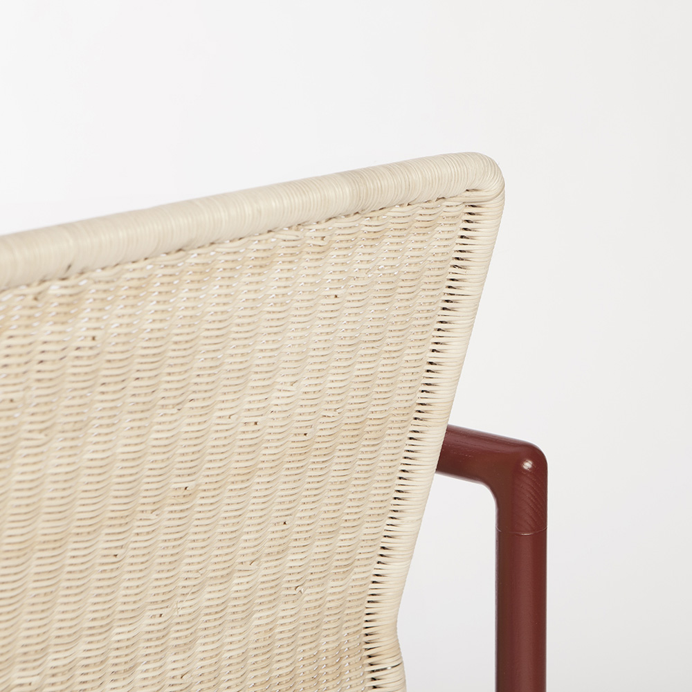 khep chair contemporary danish designer wicker armchair