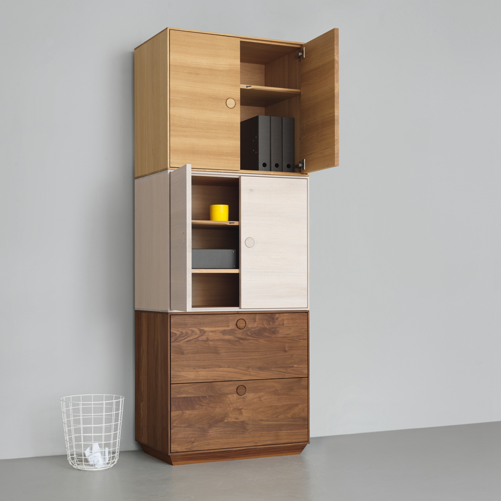 kin long stacked zeitraum suite ny mathias Hahn chalk stained oak solid walnut