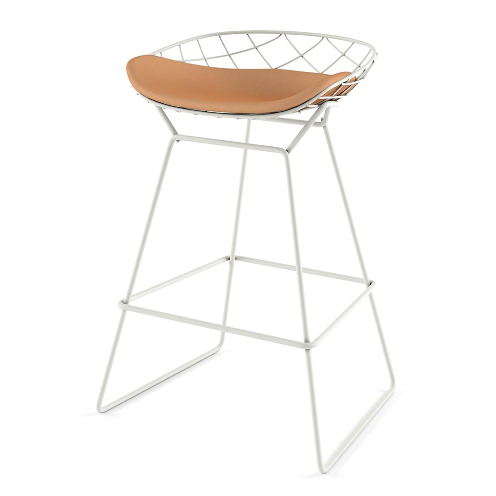 Kobi Stool Patrick Norguet Alias modern upholstered barstool
