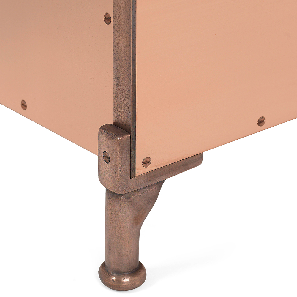 koppar mats theselius kallemo modern contemporary designer copper metallic shiny armchair easy chair lounge chair