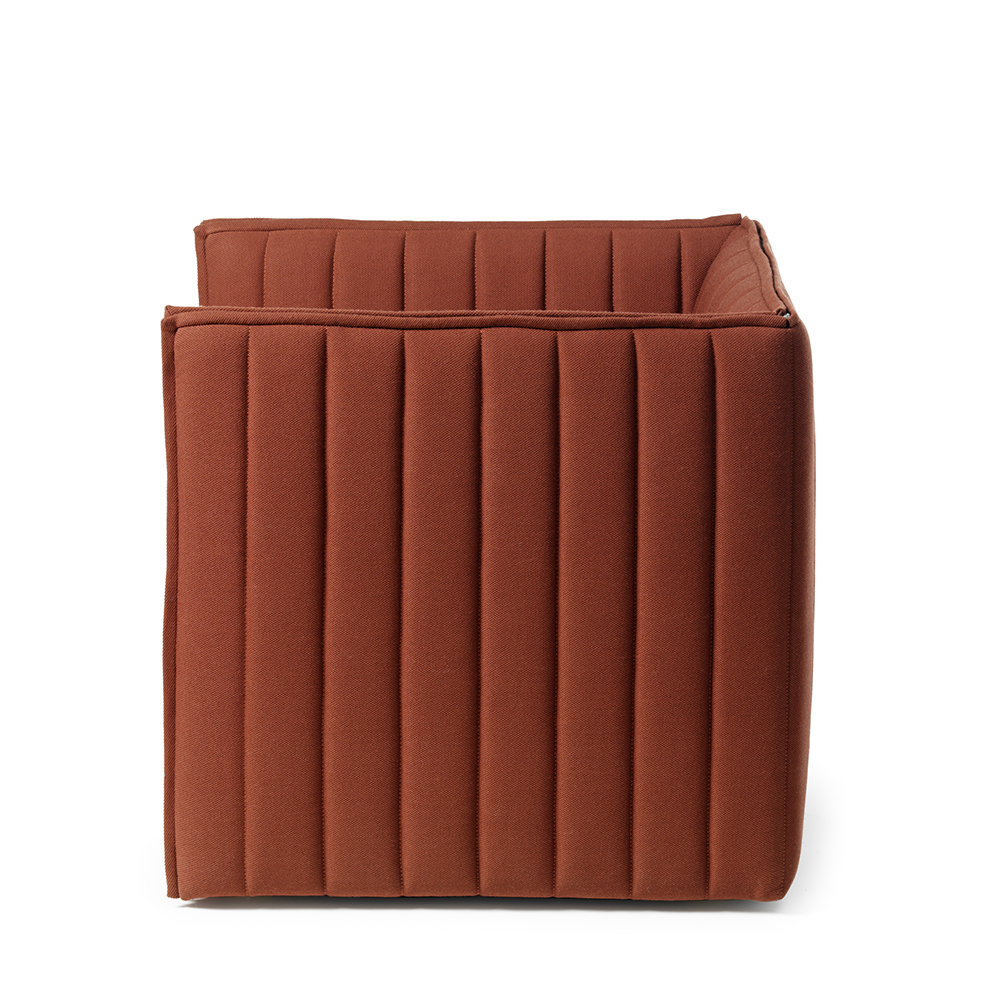 kvilt chair garsnas nina jobs orange upholstered modern swedish chair vertical quilting eco friendly