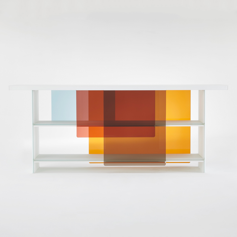 Layers designed by Nendo for Glas Italia suite ny