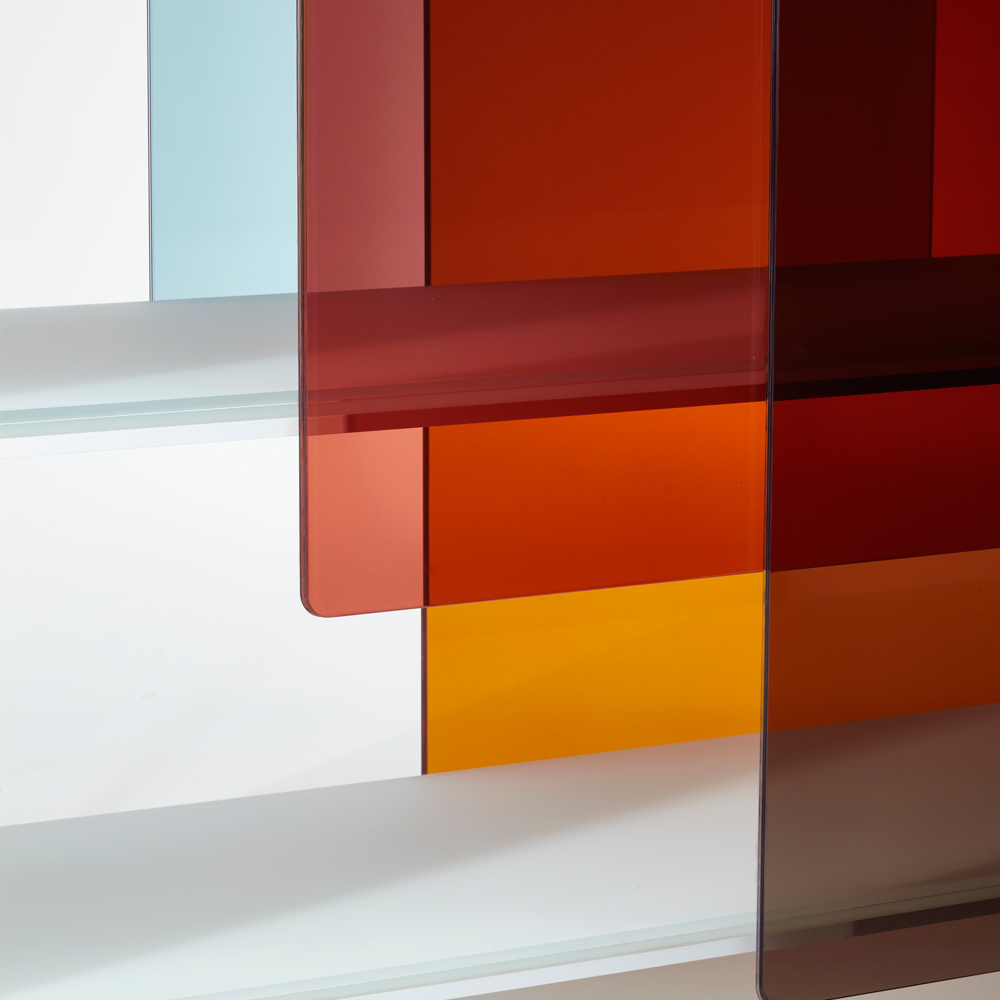 Layers designed by Nendo for Glas Italia