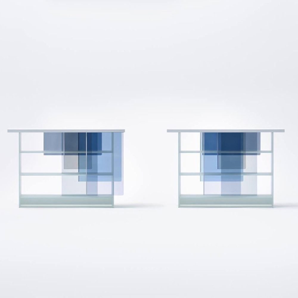 layers credenza cool blue nendo glas italia suite ny