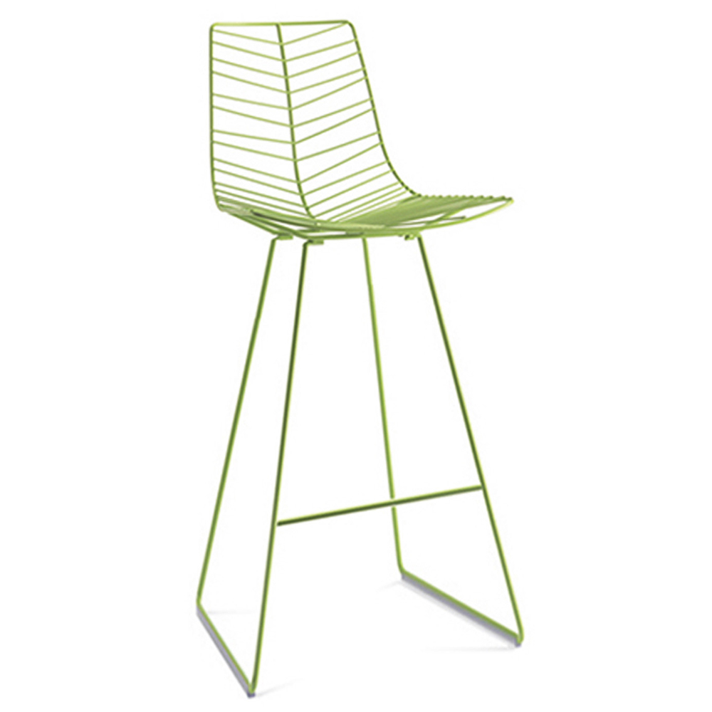 leaf bar stool arper lievore altherr molina contemporary modern designer metal steel outdoor outside bar stool seating