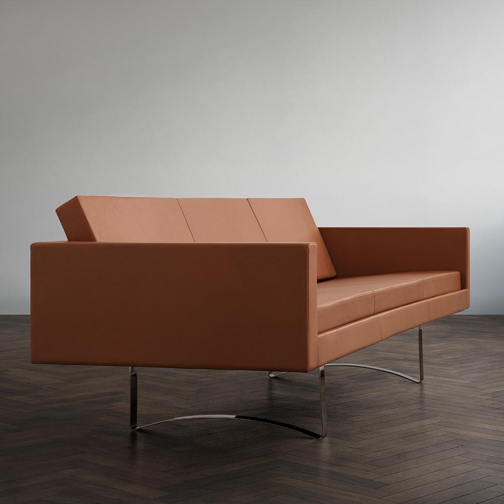 leather sofa midcentury modern danish designer upholstered bodil kjaer illums bolighus
