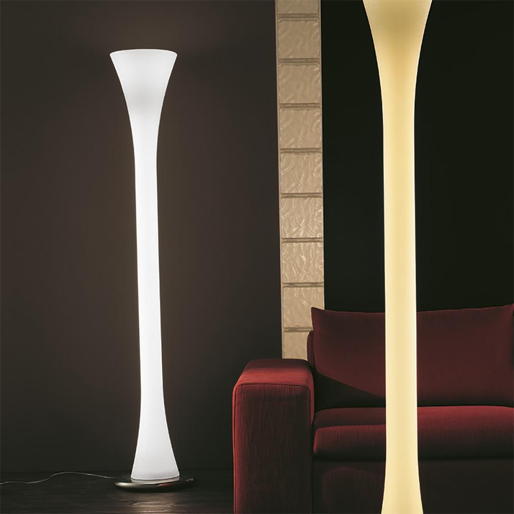 lepanto floor lamp vistosi contemporary modern italian designer glass white solid glass floor lamp lighting