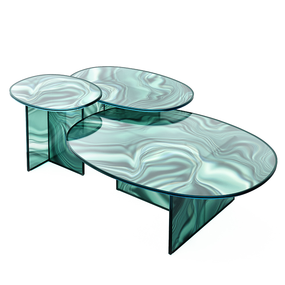 liquefy patricia urquiola glas italia modern colored glass tables