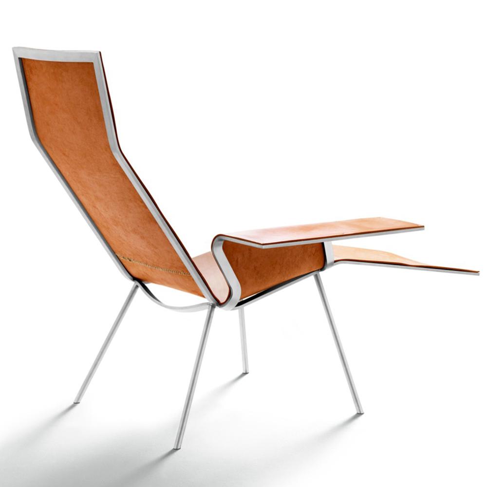 LL04 Leather lounge chair Maarten Van Severen De Padova depadova
