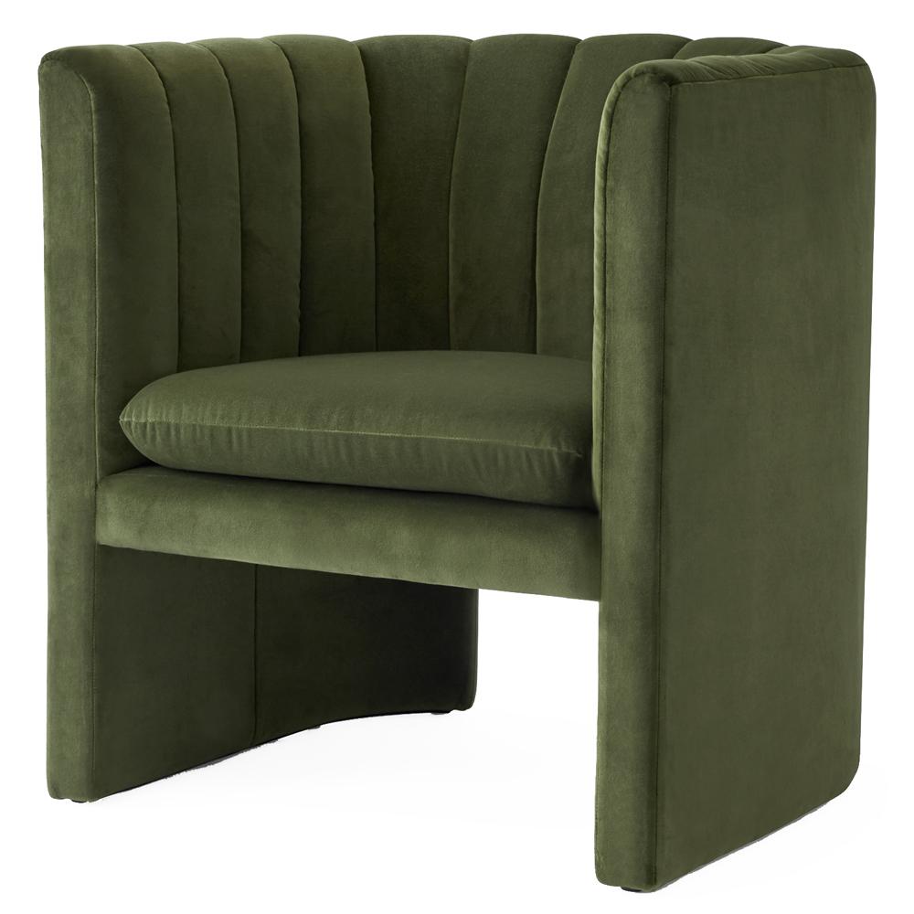 loafer andtradition space copenhagen modern designer luxury contemporary upholstered lounge chair velvet danish scandinavian
