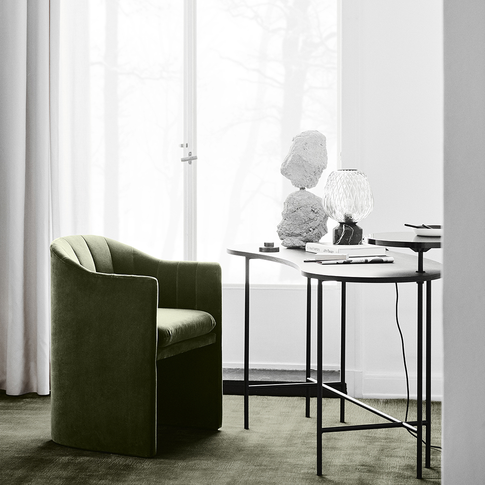 loafer dining space copenhagen andtradition contemporary designer modern danish upholstered high dining chair