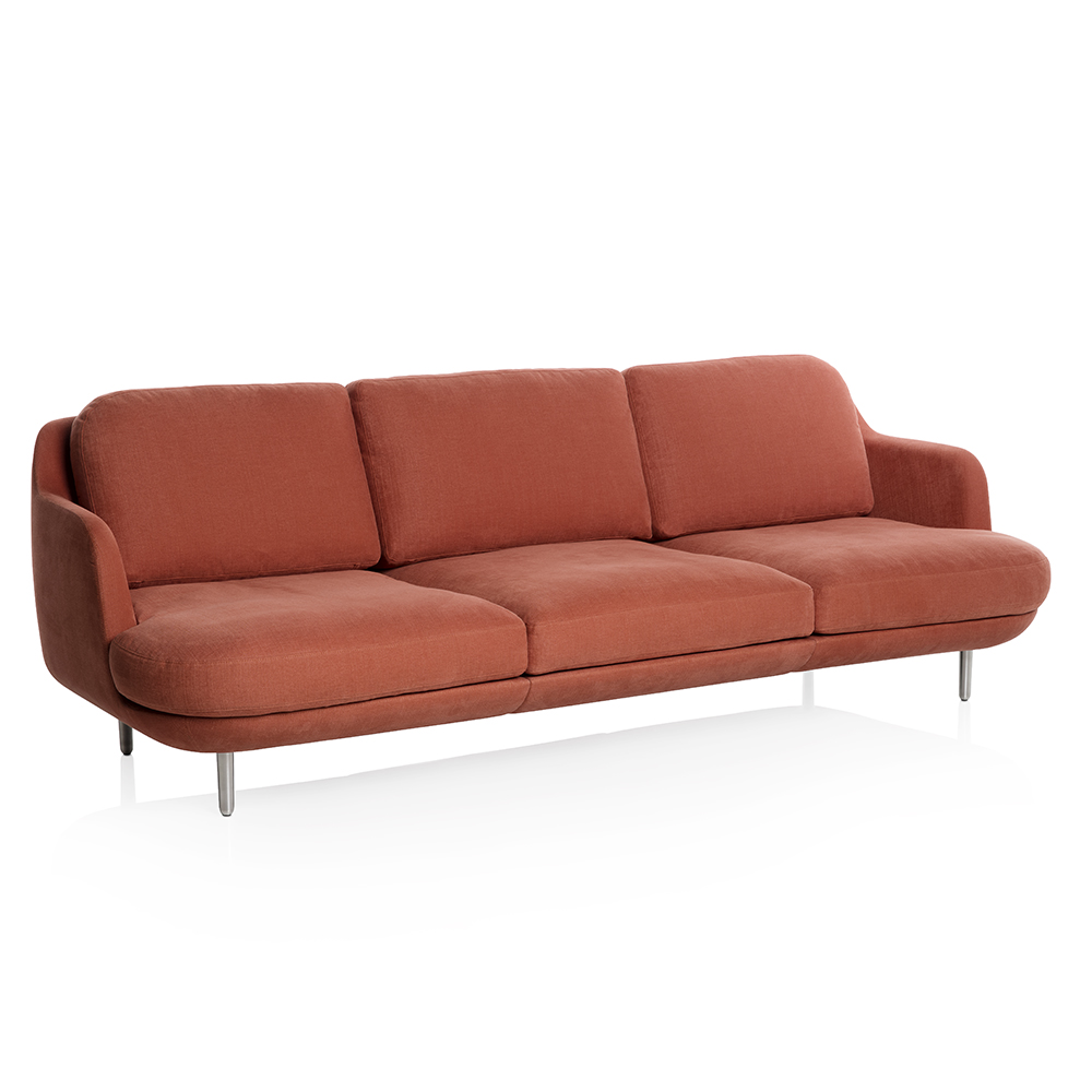 lune sofa fritz hansen modern red upholstered sofa
