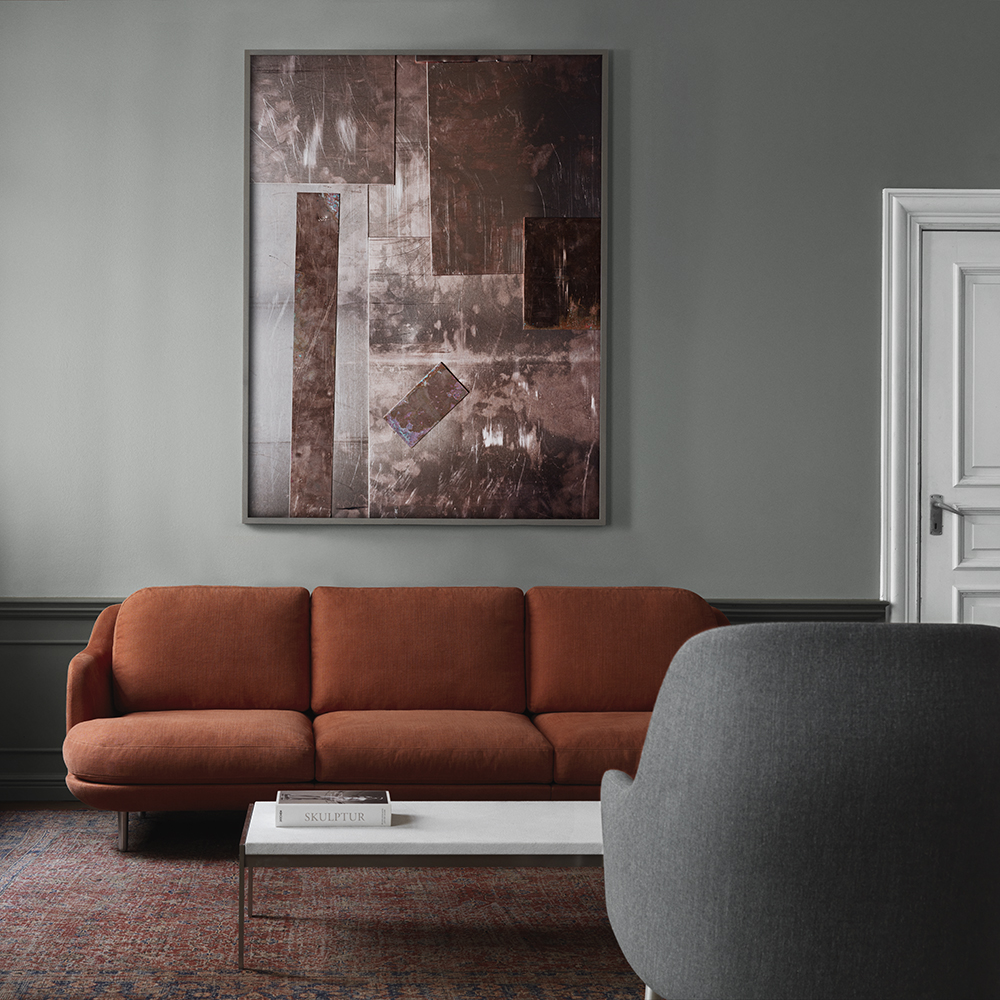 lune sofa fritz hansen red interior
