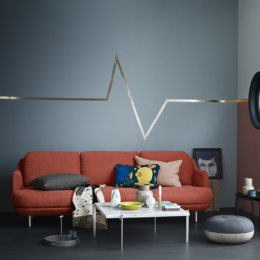 lune sofa fritz hansen red