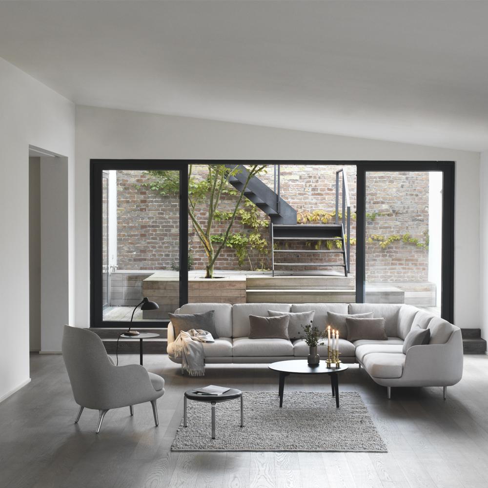 lune sofa fritz hansen modern upholstered sofa