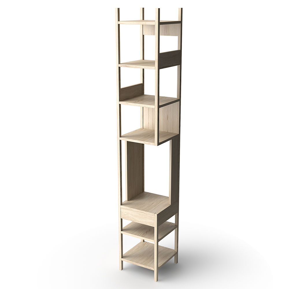 LUNGAGOLO achille catiglioni karakter solid wood shelving display unit