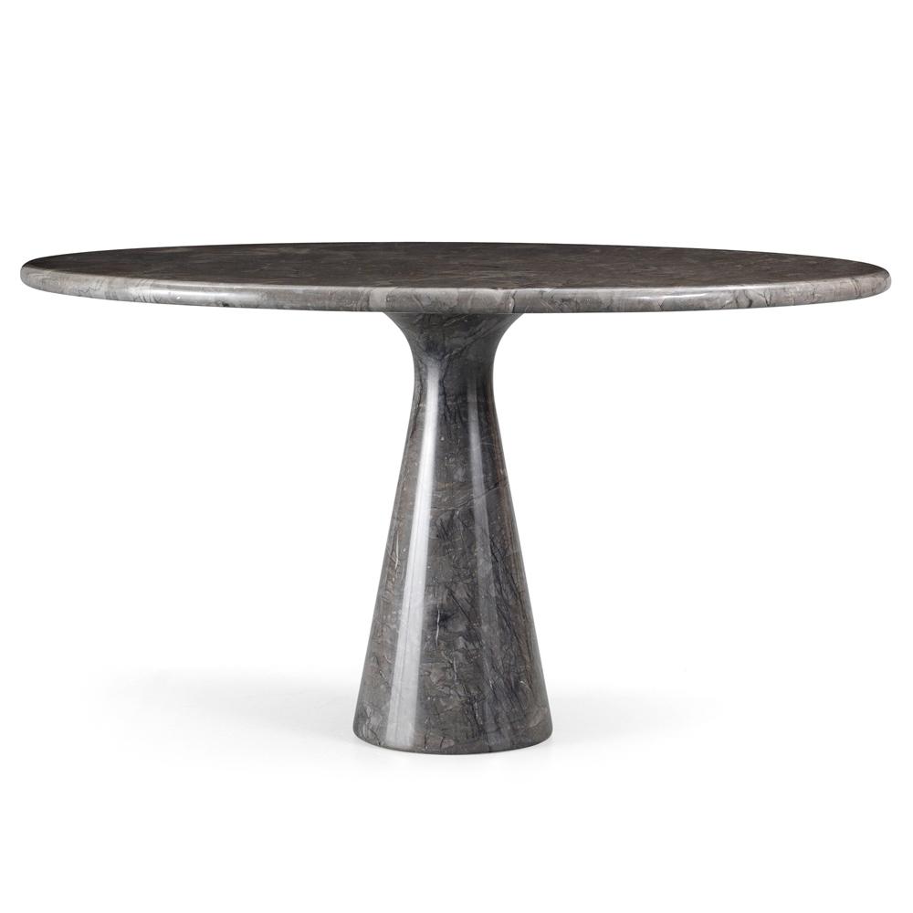 Angelo Mangiarotti M Table round black marble dining Agapecasa