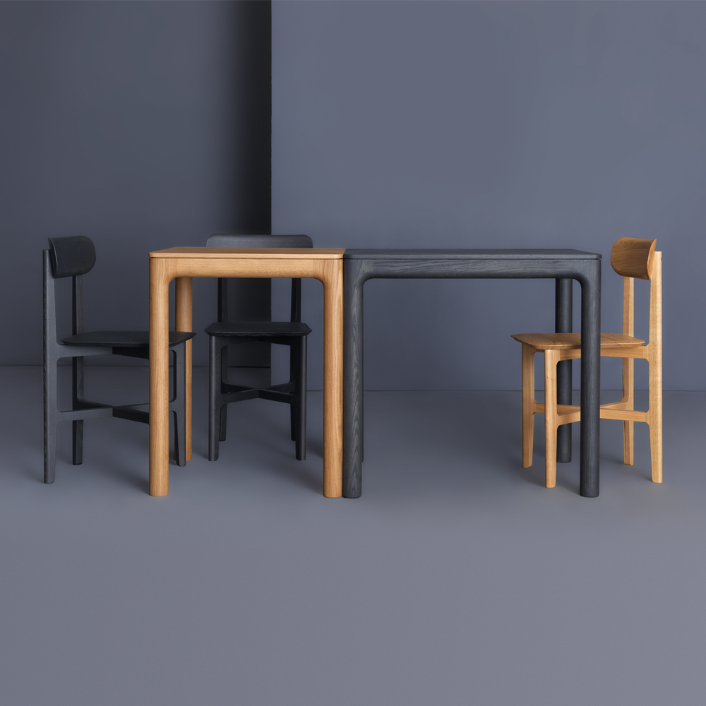 M11 wood dining table Mathias Hahn Zeitraum