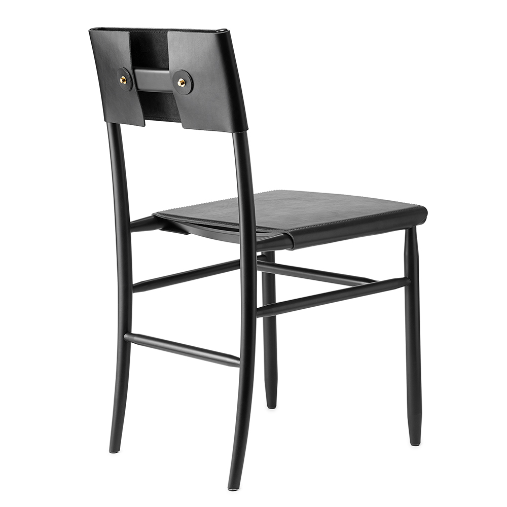 madonna chair david ericsson garsnas modern swedish black leather upholstered dining chair