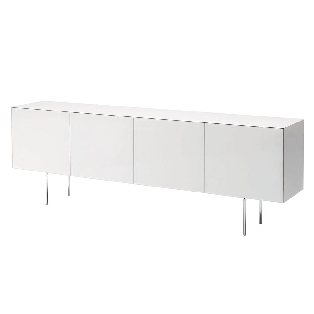 Magic Box Piero Lissoni Glas Italia white glass cabinet