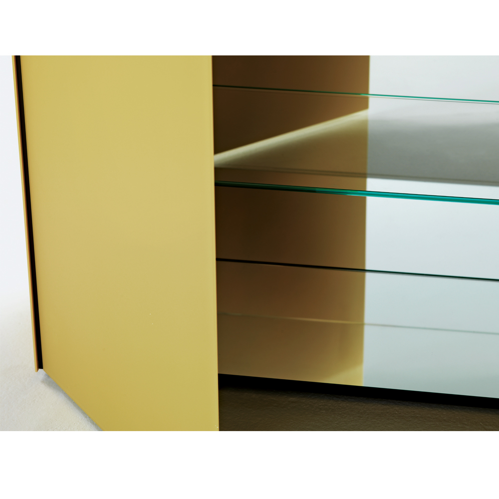 Magic Box Piero Lissoni Glas Italia yellow glass cabinet
