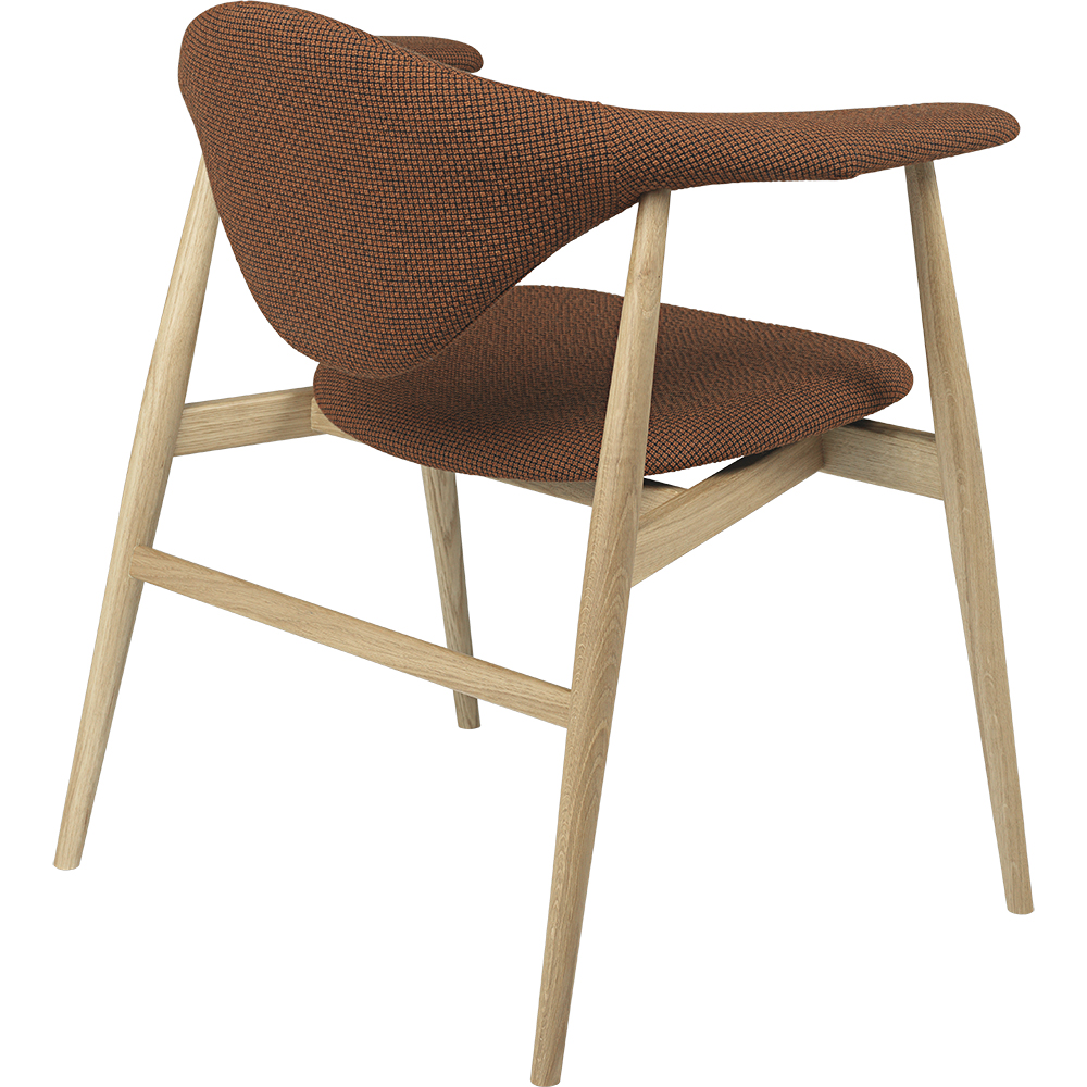 masculo dining lounge chair gamfratesi gubi modern contemporary designer mid century style dining upholstered wood wooden chair with arms