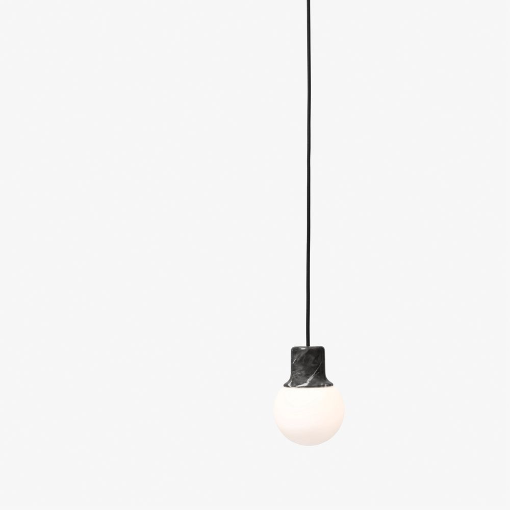 Norm ARchitects Mass pendant light andtradition &tradition black marble