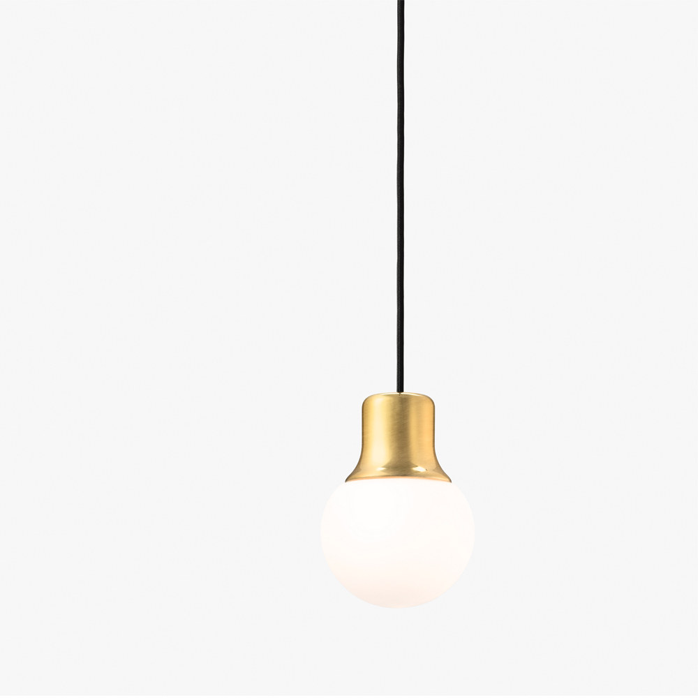 Norm ARchitects Mass pendant light andtradition &tradition brass