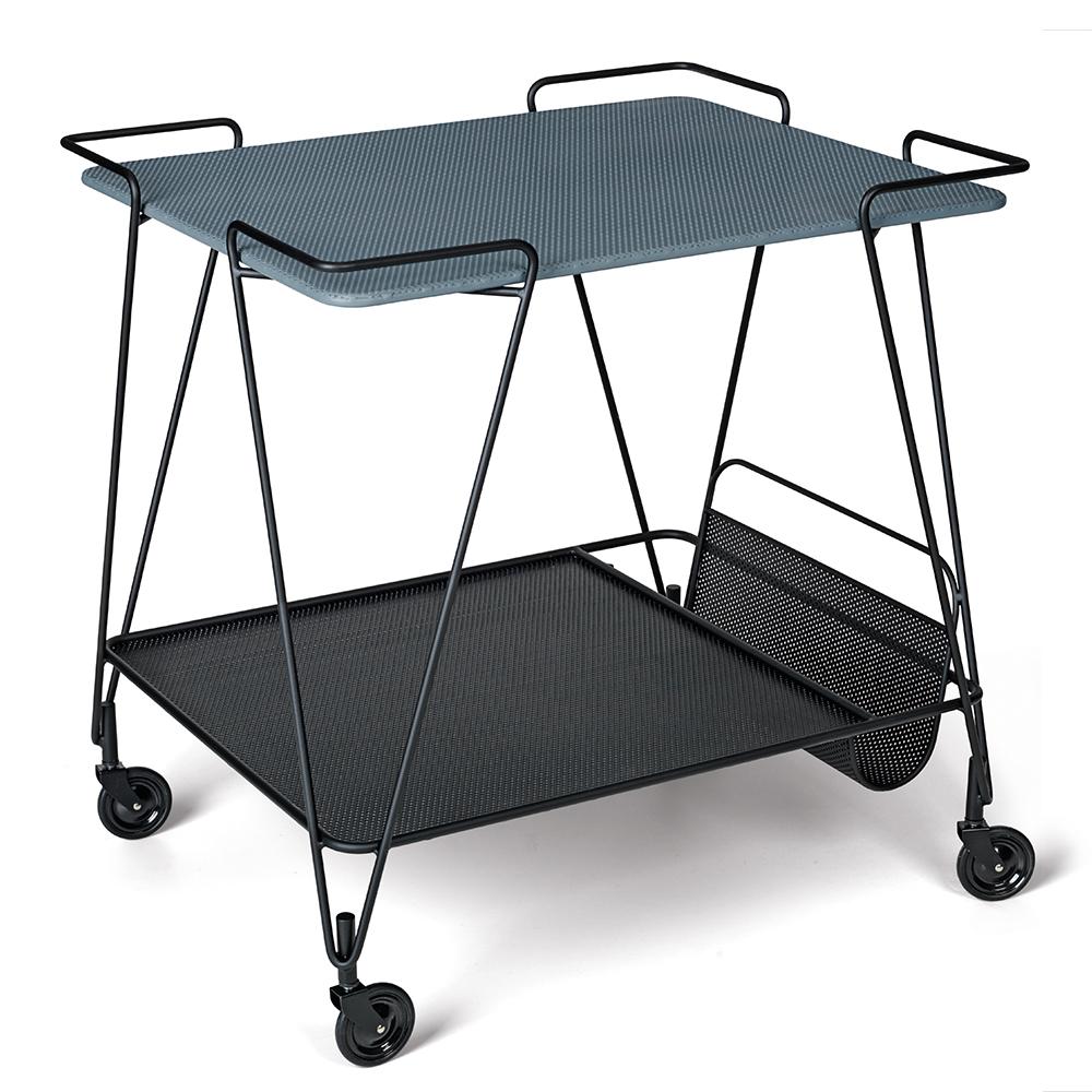Mategot Trolley Mathieu Mategot Gubi mid-century modern designer trolley cart grey