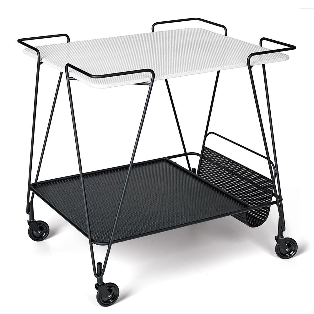 Mategot Trolley Mathieu Mategot Gubi mid-century modern designer trolley cart white