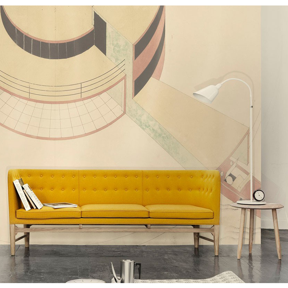 Mayor Sofa Arne Jacobsen Flemming Lassen AndTradition high back couch danish design mustard yellow