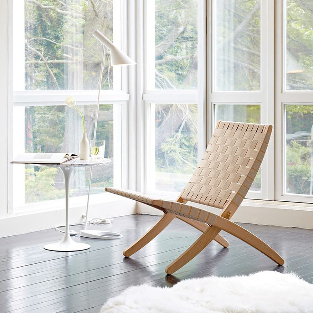 MG501 Cuba Chair Carl Hansen and Son solid oak natural cotton weave webbing