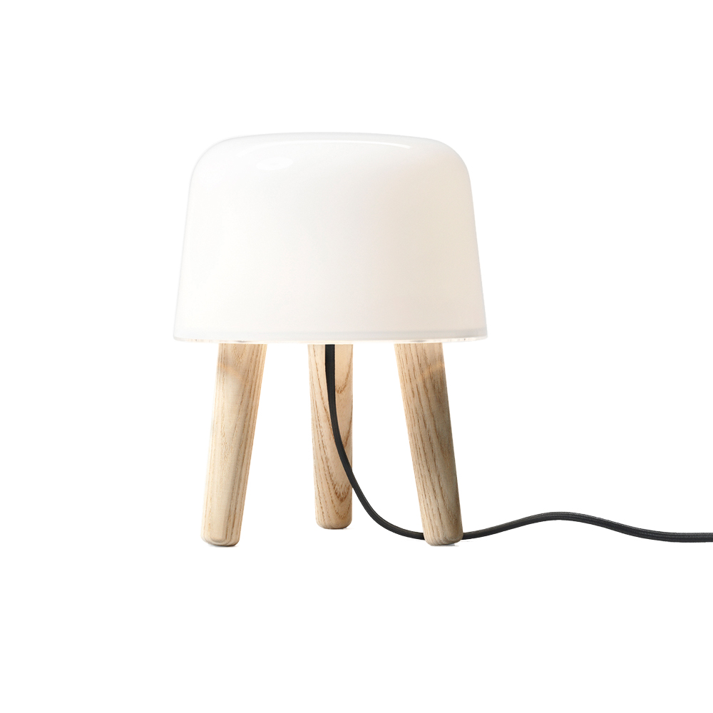Milk table lamp NA1 andtradition norm architects white opal glass smoked ash lighting danish design shop SUITE NY