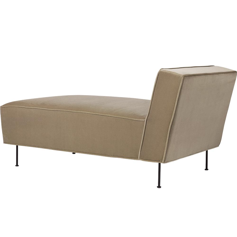 modern line chaise longue lounge greta grossman gubi midcentury modern designer contemporary minimalist upholstered lounge furniture