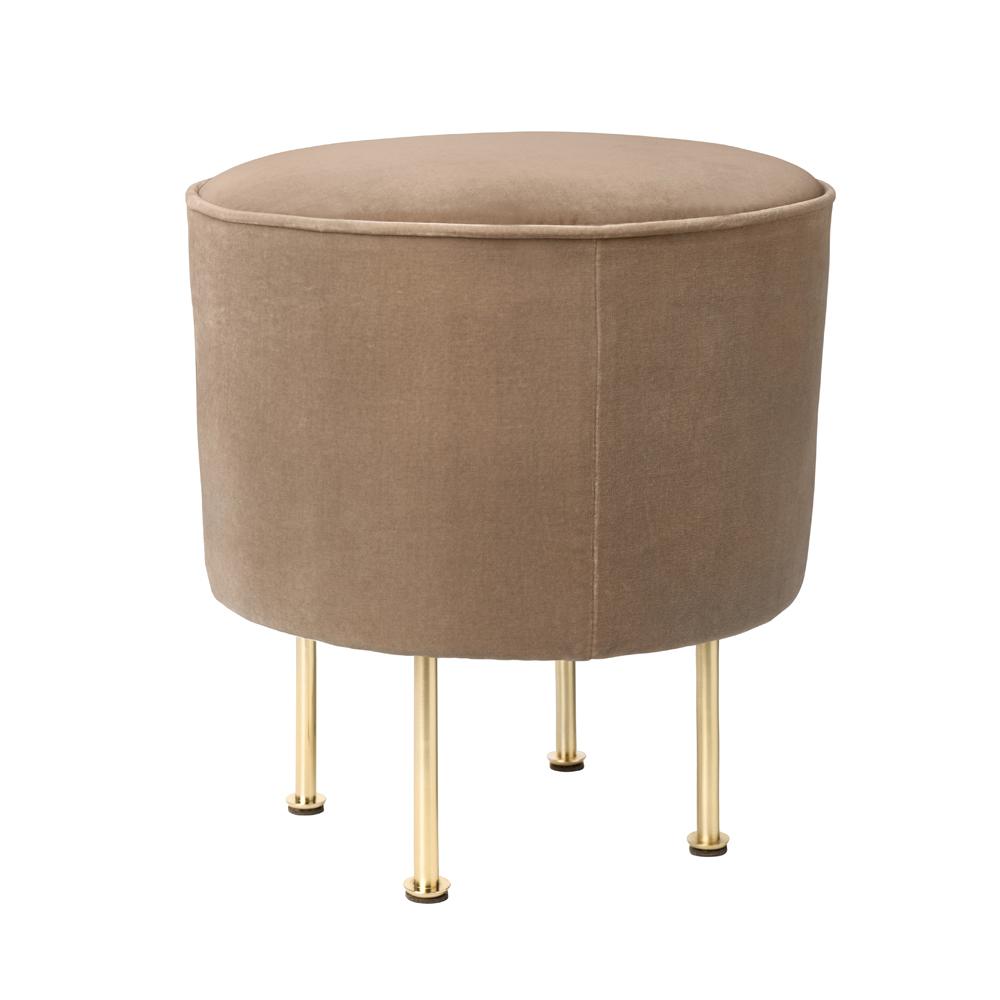 modern line pouffe great grossman gubi suite ny beige velvet