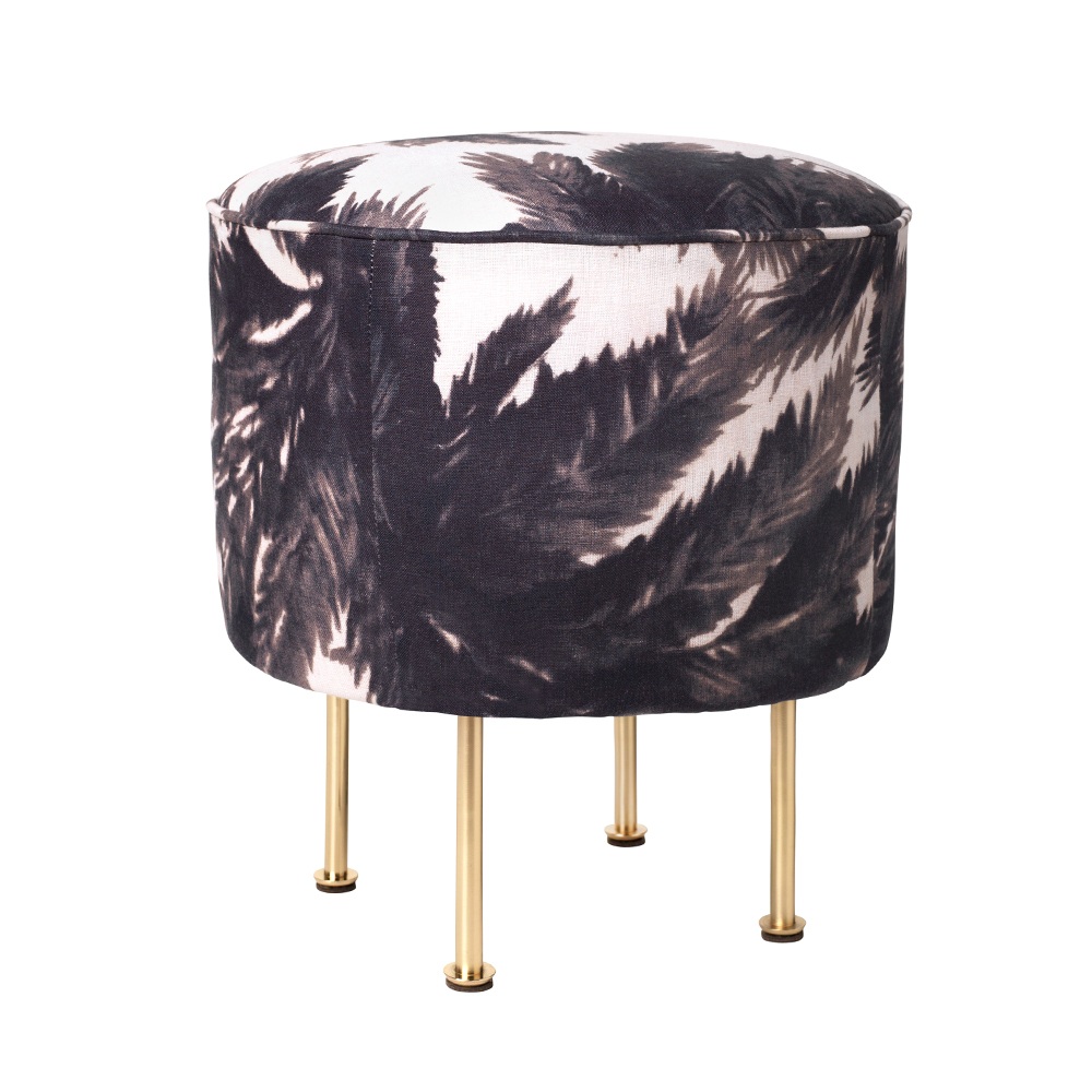 modern line pouffe great grossman gubi suite ny palm print upholstered