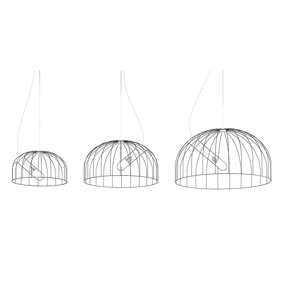 Mogura Light Nendo De Padova DePadova wire chandelier italian pendant japanese