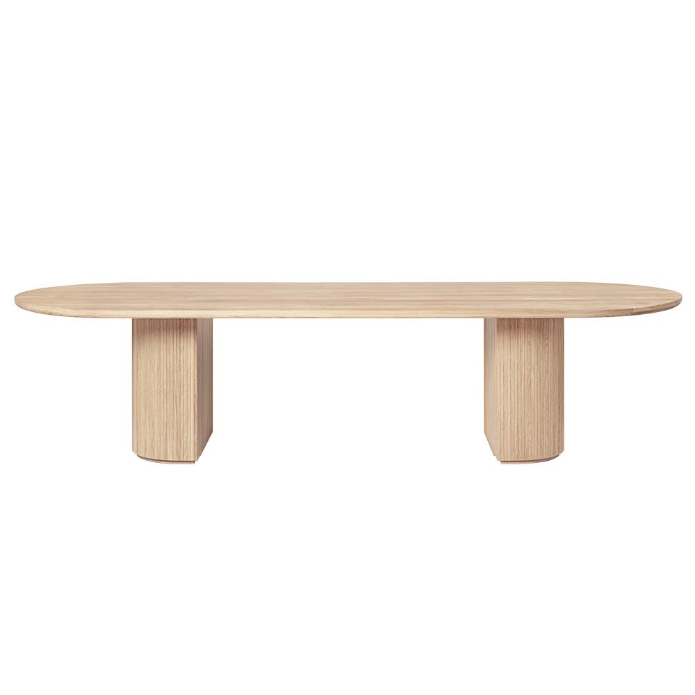 moon dining table collection space copenhagen gubi solid oak danish design contemporary furniture black elliptical beveled surface shop suite ny