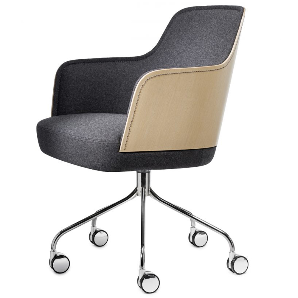 mr n farg blanche garsnas contemporary modern designer upholstered conference task chair wheels casters adjustable height