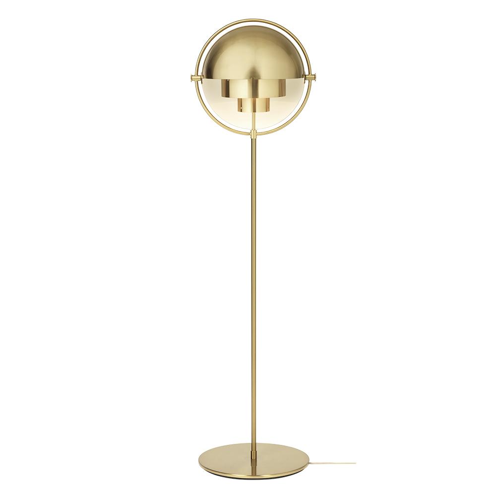 multi-lite floor lamp contemporary modern metallic brass designer floor lamp light lighting