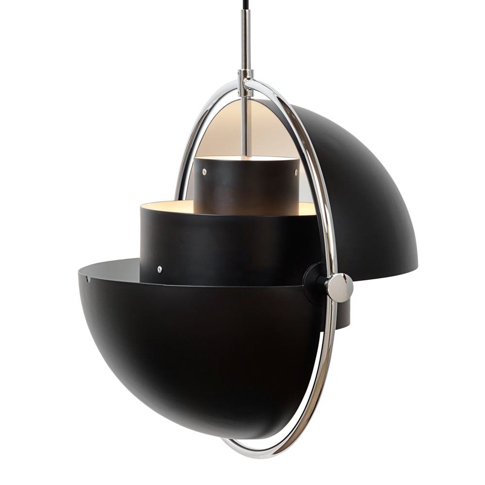multi lite pendant Louis Weisdorf gubi black chrome