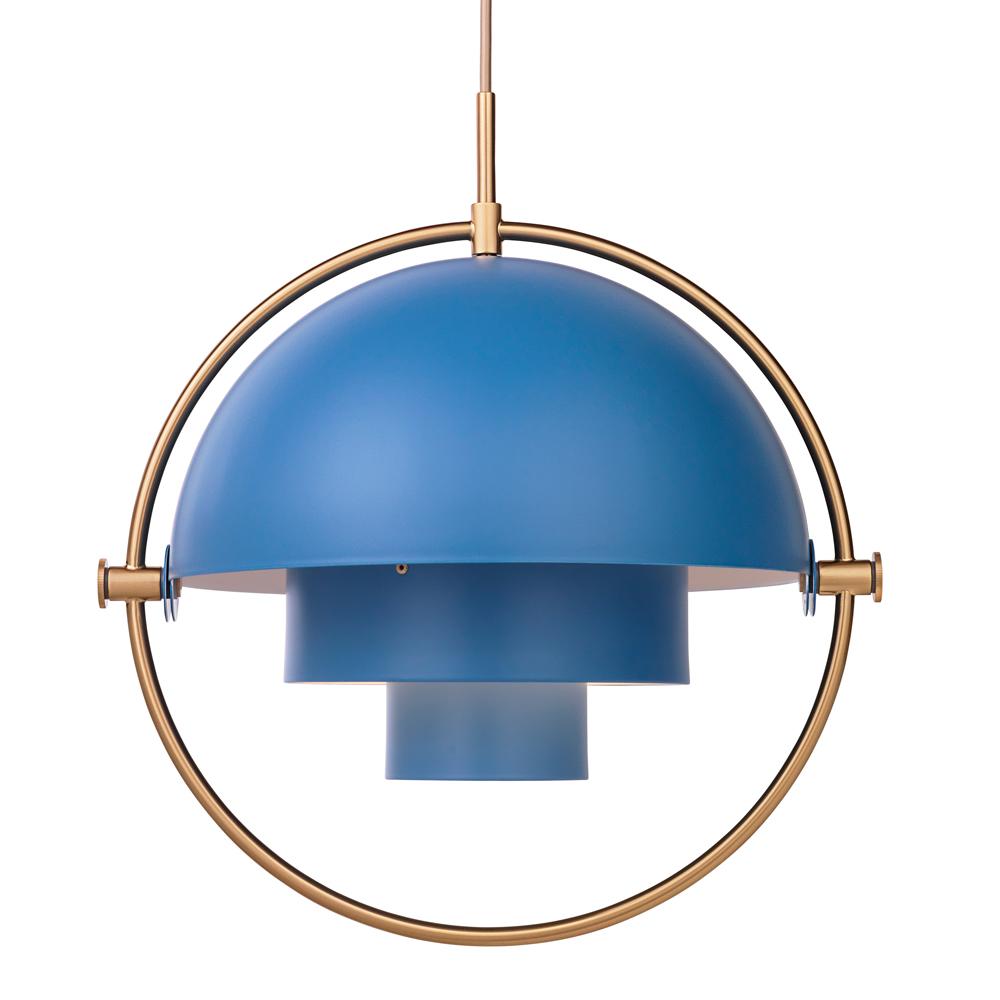 multi lite pendant Louis Weisdorf gubi blue brass