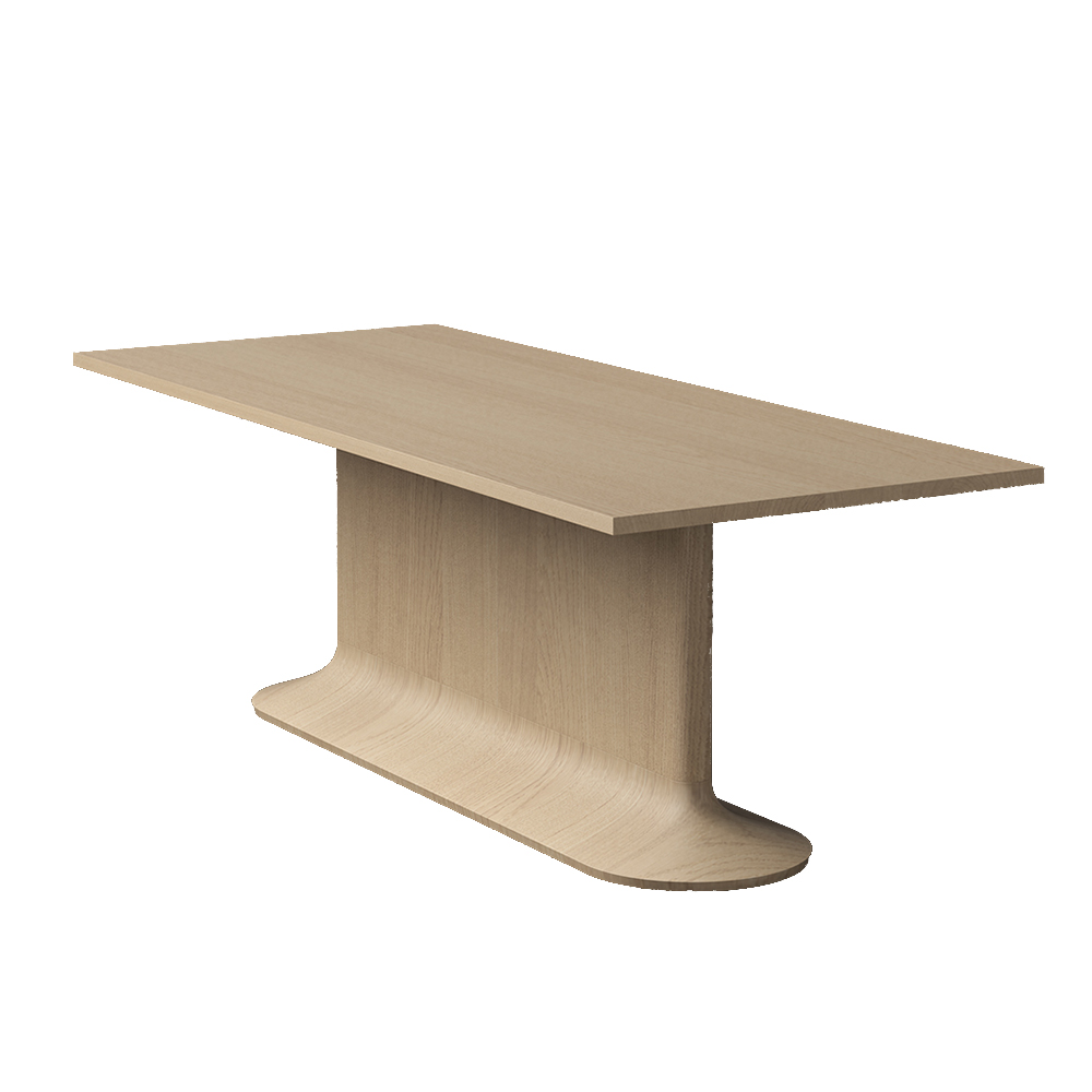aldo bakker no.one dining table modern contemporary danish designer solid wood wooden dining table