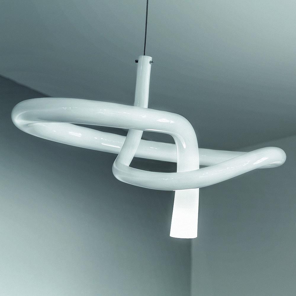 Nodo Pio Tito Toso Vistosi glass suspension light modern italian designer lamp