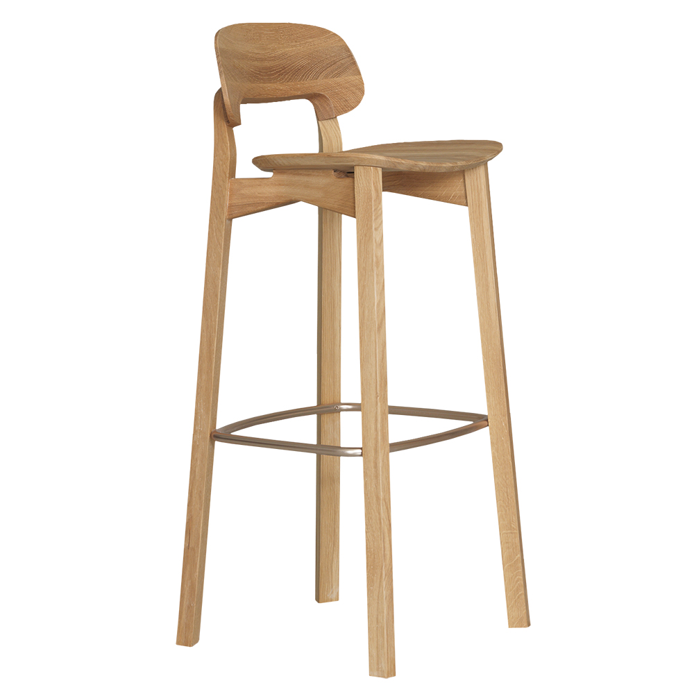 nonoto bar stool laufer keichel zeitraum suite ny walnut upholstered seat