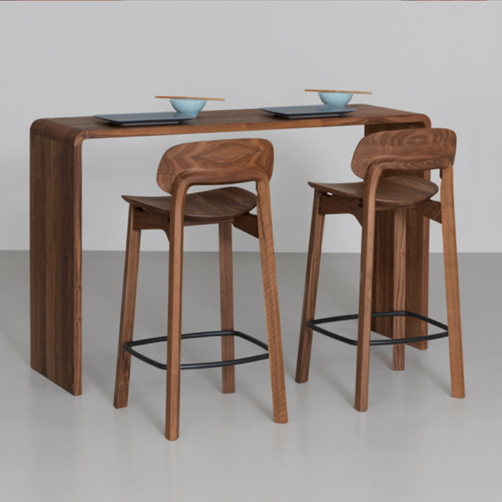 nonoto bar stool laufer keichel zeitraum suite ny walnut unupholstered